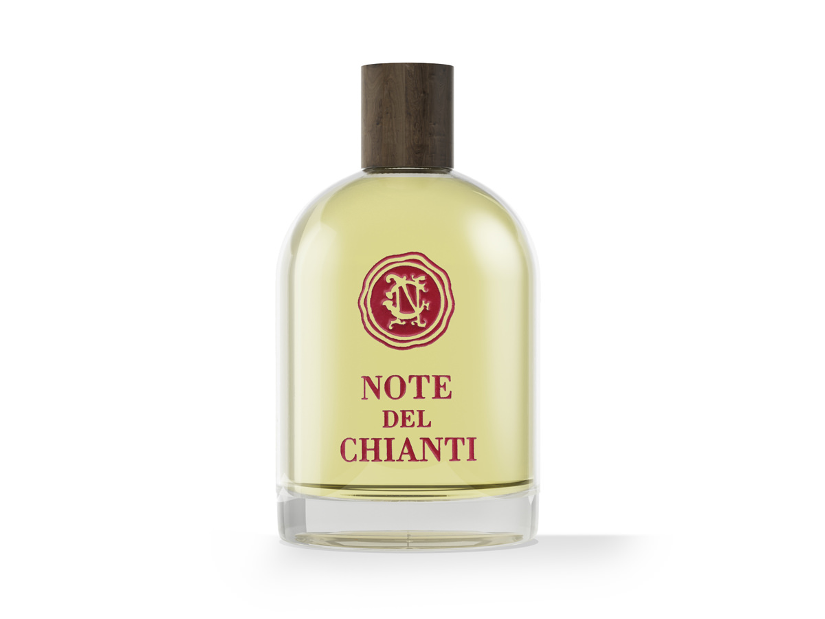 A bottle of Dolce Carezza, eau de toilette for woman by Note del Chianti