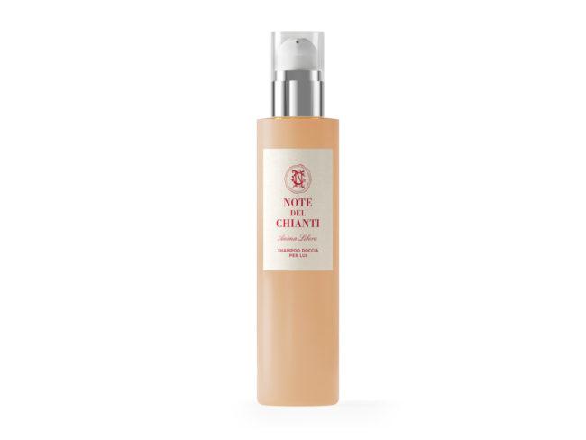 Shampoo doccia per uomo confezione di Anima Libera dalla bottega di Note del Chianti